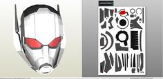 Papercraft .pdo file template for Captain America - Civil War Ant Man Helmet. - Visit to grab an amazing super hero shirt now on sale!
