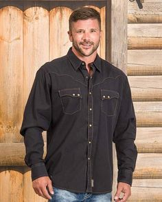 """Wrangler White Scalloped Vintage Western Shirt with western yokes, snap front #winter2015 casual men's clothing for cowboys rugged men man western ranch style tough """"gifts for cowboys"""" """"gifts for men"""""""