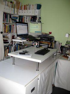 ikea hack building a standing desk expedit shelf all for a total of under 200 texas bloggers pinterest ikea hack desks and shelves