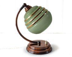 1930s French art deco era desk lamp.
