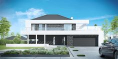 Find home projects from professionals for ideas & inspiration. Projekt domu HomeKONCEPT 37 by HomeKONCEPT Duplex House Plans, Modern House Plans, Small Modern Home, Facade House, House Front, Home Projects, Planer, Architecture Design, New Homes