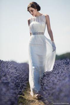 http://weddinginspirasi.com/2013/08/28/sanyukta-shrestha-2014-eco-bridal-collection/ sanyukta shrestha #wedding dresses 2014 sonia sleeveless gown #weddings #weddingdresses