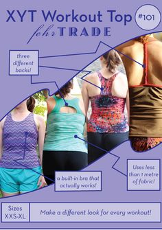 XYT Workout Top PDF sewing pattern – Fehr Trade - all sizes 1 yard