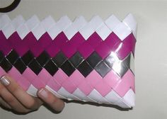 origami Bridesmaid clutch bagspinkpurplesilver by colorfulconcept, $30.00