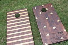 Rustic Star and Stripes Corn Hole Boards | Creative Corn Hole Boards To Inspire…
