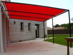 Pergola Sun Shade, Deck Shade, Sun Sail Shade, Pergola With Roof, Gazebo, Backyard Office, Backyard Patio, Patio Sails, Shade Sail Installation