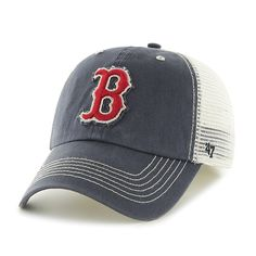 687ecf19635 Boston Red Sox 47 Brand Taylor Closer Mesh Stretch Fit Hat