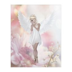Beautiful Pink FLower Angel Acrylic Print - tap to personalize and get yours Ghost Bride, Mermaid Fairy, Fantasy Gifts, Bride Dolls, Acrylic Wall Art, Fairy Dolls, Faeries, Pink Flowers, Art Gallery