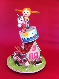 Fabulose Pippi Longstocking cake by Anna Maria of Planet Cake
