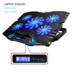 Topmate Ultra Slim Portable Quite Big Fans Laptop Cooler Cooling Pad