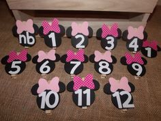 Minnie Mouse First Year Photo Banner Clips