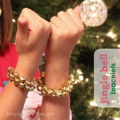 An easy accessory for a holiday party! -> Easy Last Minute Jingle Bell Bracelets | Simply Kelly Designs