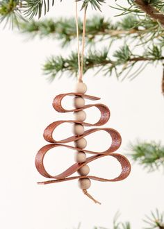 Christmas ornament - leather xmas tree cognac                                                                                                                                                                                 More