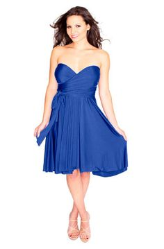 The PERFECT Bridesmaid dress...why didn't I find these earlier?! Sakura Convertible Dress - can be made into about 40 different styles - so cool!!