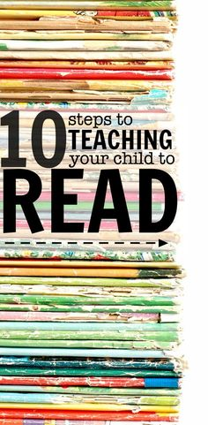 So many great suggestions on how to teach your child to read written by a teacher and mother of 3!