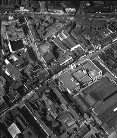 A view of Northumberland Street in Newcastle upon Tyne taken in 1948. You can also see Percy Street and the old bus station at the top of the picture. From the collection of Tyne & Wear Archives.