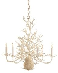 Seaward White Coral Branch Chandelier