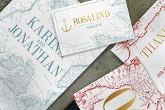 Vintage Map Wedding Invitation  @creativework247