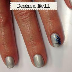 Silver chrome shellac. love the detail on the nail!