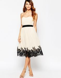 Buy Little Mistress Ruched Bodice Full Midi Dress With Floral Applique Hem at ASOS. Get the latest trends with ASOS now. Sequin Midi Dress, Floral Chiffon Dress, White Floral Dress, White Midi Dress, Ruched Dress, White Chiffon, Floral Dresses, Corsage, Asos
