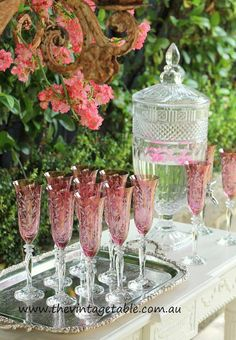 Beautiful champagne glasses