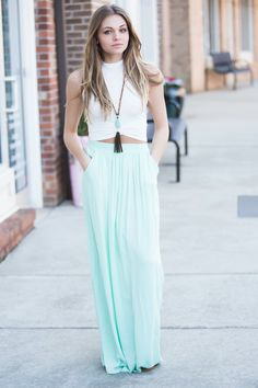Cool Mint Maxi SKirt