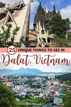 Planning a trip to Vietnam? Discover the 25 unique things to see in Dalat, Vietnam including awesome attractions in Dalat, dreamy waterfalls, hikes and pagodas, places to eat in Dalat, and more! I what to do in Dalat I places to go in Vietnam I Vietnam travel I things to do in Vietnam I places to visit in Vietnam I Vietnam attractions I what to do in Vietnam I what to eat in Dalat I what to eat in Vietnam I restaurants in Dalat I where to eat in Dalat I things to see in Dalat I #Vietnam… Vietnam Destinations, Vietnam Travel Guide, Top Travel Destinations, Asia Travel, Dalat Vietnam, Visit Vietnam, Cambodia Travel, Travel Guides, Travel Tips