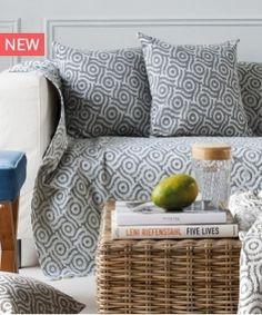 Ριχτάρι Διθέσιου καναπέ  Mosaic 22  180X250 by Kentia Decor, Furniture, House Design, Throw Pillows, Home, Love Seat, Bed, Pillows, Couch