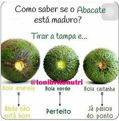 Truque - Como saber se o abacate está maduro