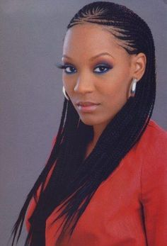 "Résultat de recherche d'images pour ""box braids with cornrows on the side"""