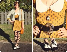 The Pineneedle Collective: DIY Vintage Style Dress (& free pleated skirt pattern!)
