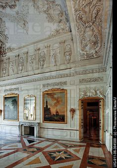Ducal Palace of Colorno interior , also known as Reggia of Colorno,Italy ,18th Century,
