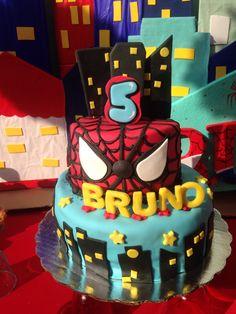 Pastel de Spiderman. http://m.me/cakeboutiquee
