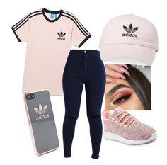 """Adidas"" by dakota-angele ❤ liked on Polyvore featuring adidas"