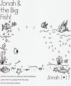 JONAH AND THE BIG FISH dot to dot