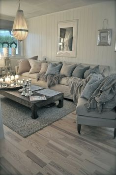 Beauty Shabby Chic Living Room Ideas Splendid Romantic and shabby chic coastal living room. Who wouldn't want to snuggle into that sofa! The post Romantic and shabby chic coastal living room. Who wouldn't want to snuggle i… appeared first on Home Decor . Coastal Living Rooms, Living Room Grey, Cozy Living, Home Living Room, Living Room Designs, Living Spaces, Apartment Living, Small Living, Cottage Living