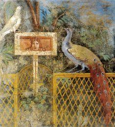 Affresco di giardino da pompei, museo archeologico nazionale, napoli - Pittura romana di giardino - Wikipedia