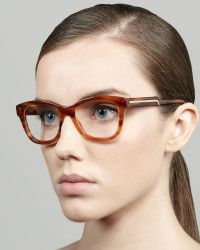 Stella mccartney Oversized Rounded Square Frame Fashion Glasses in Brown (LIGHT TORTOISE) | Lyst