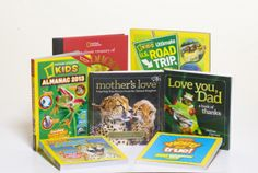 WINIT! National Geographic Books for Moms, Dads and kids (Retail Value $75 per collection)
