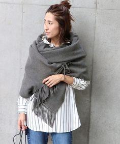 マフラーの簡単お洒落な巻き方♡写真で分かりやすく解説します in 2020 Scarf Wearing Styles, Scarf Styles, Casual Winter Outfits, Winter Fashion Outfits, Fashion Beauty, Womens Fashion, Scarves, Street Style, Sweaters