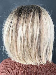 Modern Bob Hairstyles, Blunt Bob Hairstyles, Blunt Haircut, Blonde Bob Haircut, Bob Haircut With Bangs, Blonde Hair, Blonde Bob With Fringe, Blonde Blunt Bob, Short Blonde Bobs