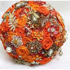 Satin Fall Bridal Brooch Bouquet 4pcs. Package BPACK-015