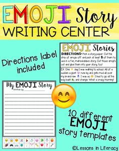 Emoji Story Writing Center- This writing center will definitely spark inspiration in your students and get them writing creatively! I have included everything you need for a working center that will last you a LONG time! I have created 10 different versions of emoji writing templates to choose from.