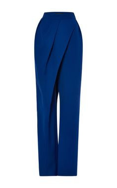 Medium vika gazinskaya blue high waist wrap pant