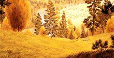 Spirit: Stallion of the Cimarron (GIF) 〖 DreamWorks Spirit Stallion of the Cimarron running beautiful landscape background gif 〗