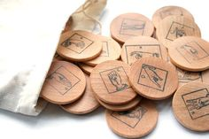Eco Friendly Toy - ASL Sign Language Alphabet - Montessori Game - Waldorf Wooden Toy