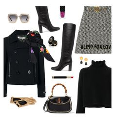 """Blind For Love"" by sproetje ❤ liked on Polyvore featuring Golden Goose, Gucci, McQ by Alexander McQueen, Gianvito Rossi, Lizzie Fortunato, ootd, WhatToWear, WearIt and friendsgiving"