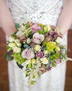 Dusky pink and cream brides bouquet. Lavender Hill Flower Company, Farnham, Surrey. #bouquet #bride #pink bouquet #wedding #flowers #photography Loseley Park wedding Photography | JulietMcKeePhotography.co.uk