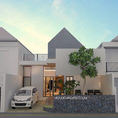 https://www.google.com/blank.html Small Modern House Plans, Small House Design, Modern House Design, Fasade House, Modern Minimalist House, Modern Townhouse, House Tiles, Roof Architecture, Contemporary Building