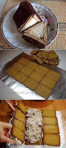 """Творожный торт """"Домик"""" без выпечки   Банк кулинарных рецептов"""